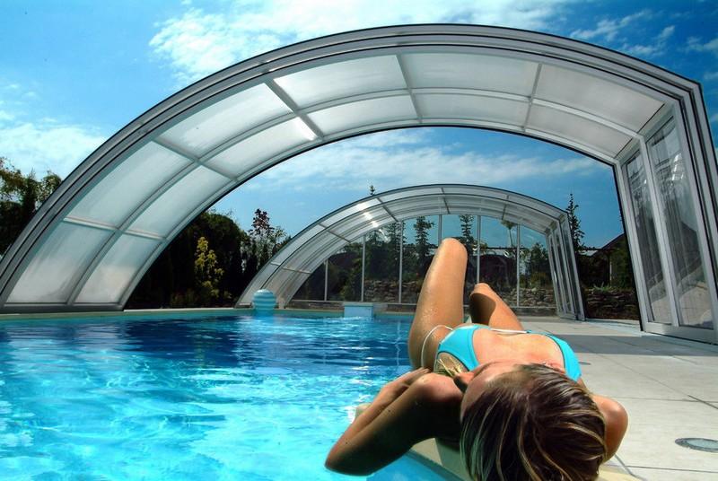 Posuvné prekrytia bazénov